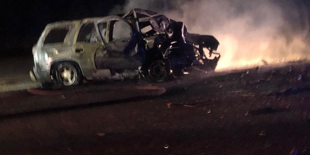 Sylacauga officer survives fiery accident with log truck