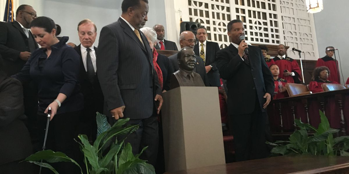 Bust of Martin Luther King Jr. unveiled at annual church service, celebration