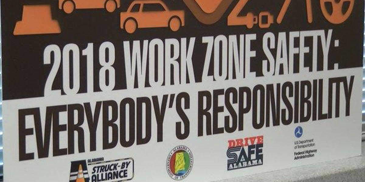 ALDOT urges work zone safety in 'National Work Zone Awareness' Week