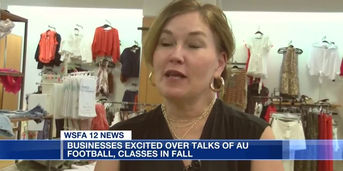 Businesses excited over talks of AU football, classes in fall