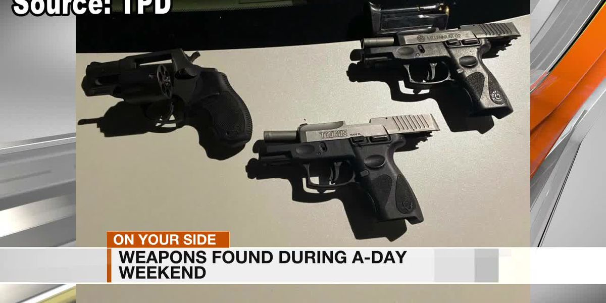 Weapons found during A-Day weekend