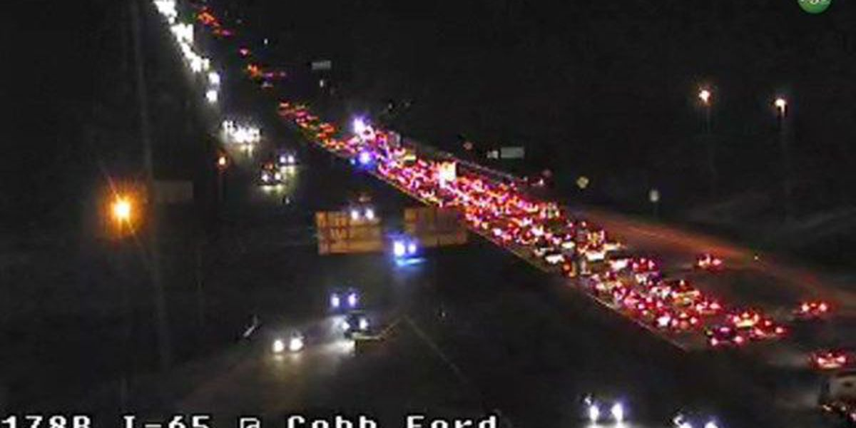 UPDATE: All clear after 2 accidents on I-65 SB near Cobbs Ford Road exit caused major delays