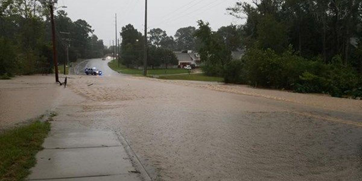 Flooding reported in several areas, flash flood warning continues