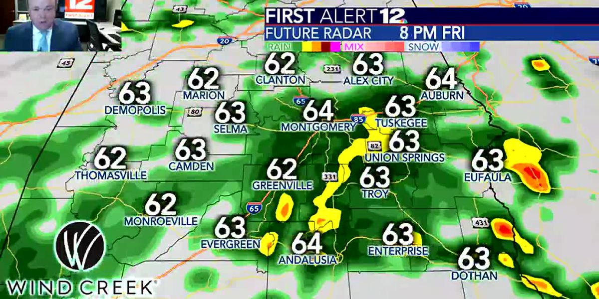 Rain becomes likely later today - watch for updated timing info!