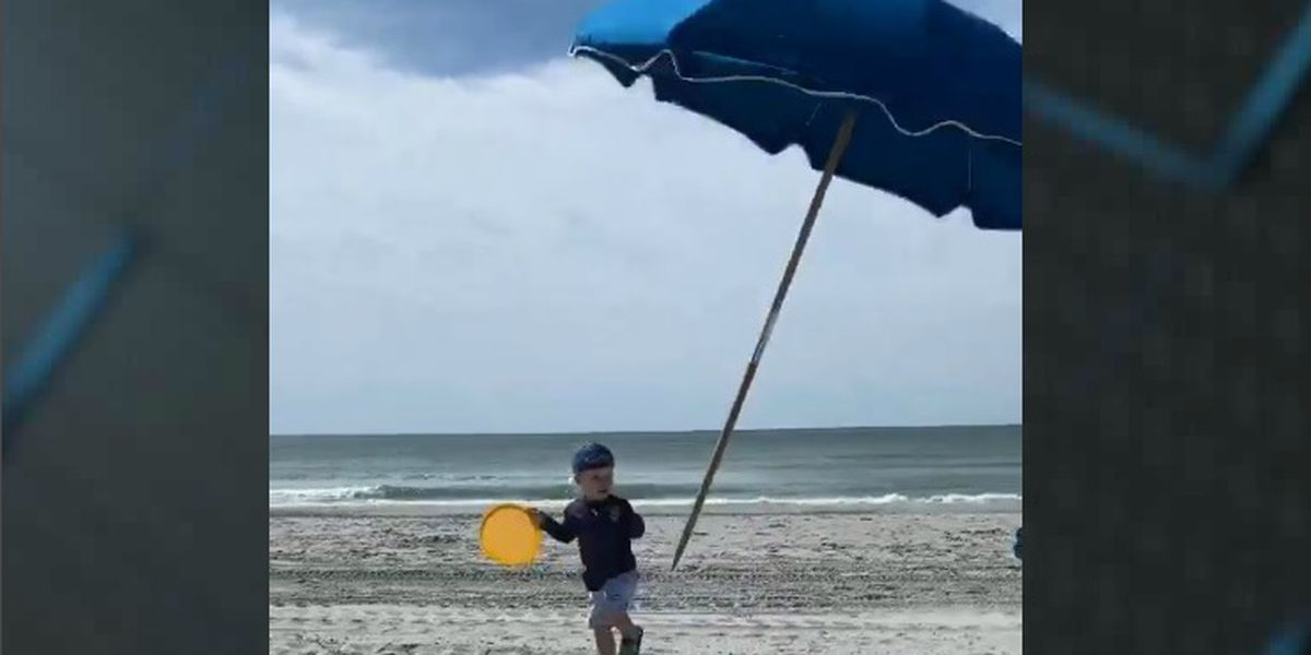 'I have never felt so shocked and terrified:' Toddler nearly impaled by umbrella in North Myrtle Beach