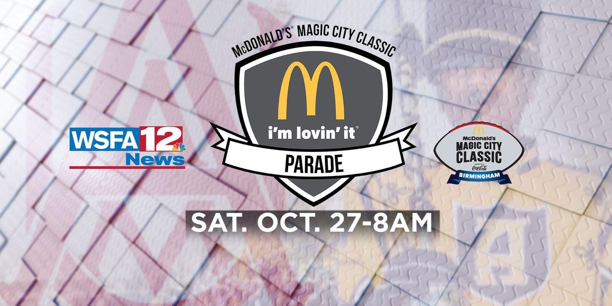 Watch the Magic City Classic Parade live on WSFA 12 News