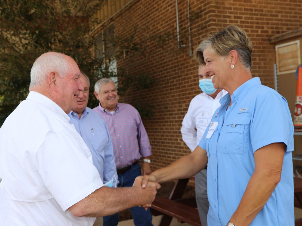 Top U.S. agriculture leader tours Hurricane Sally damage in Alabama