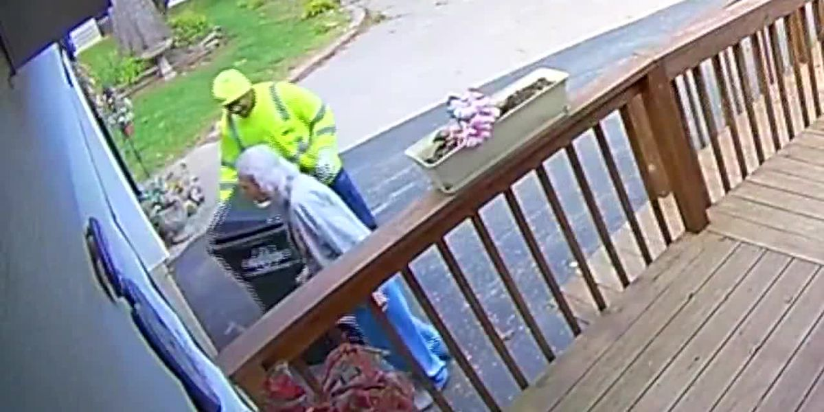 Garbage man befriends 88-year-old who fell collecting her trashcan