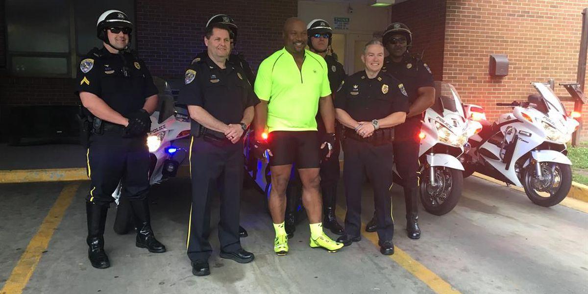 Auburn legend Bo Jackson donates motorcycles to Auburn Police Dept.