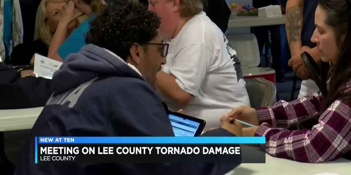 Meeting held for those affected by Lee County tornadoes