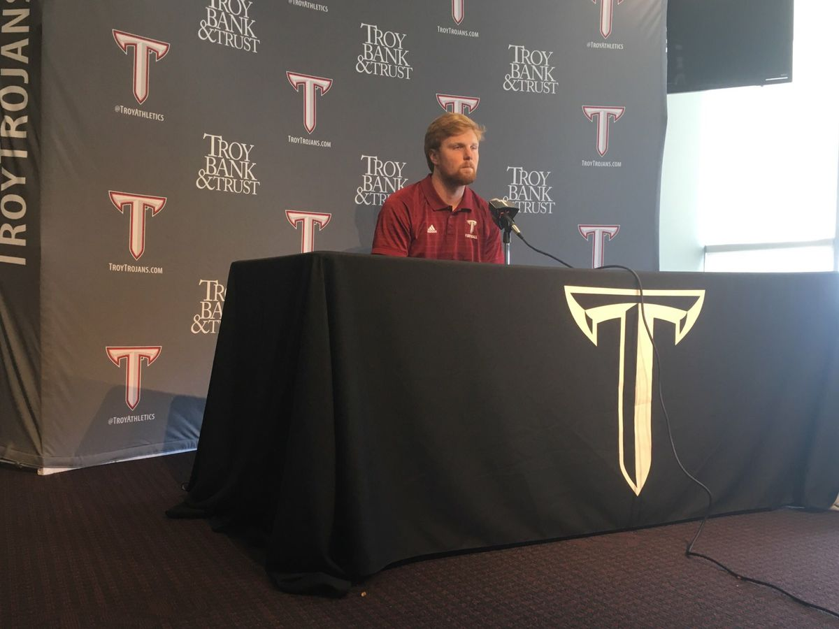 Troy's Knudsen earns scholarship after first start
