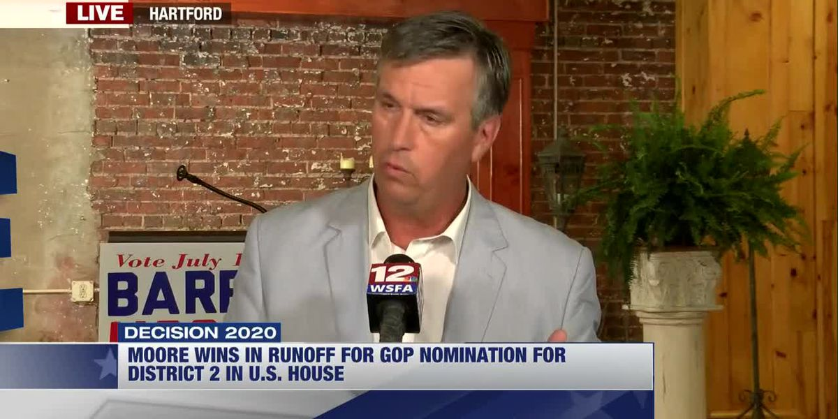 Barry Moore talks about GOP primary runoff win