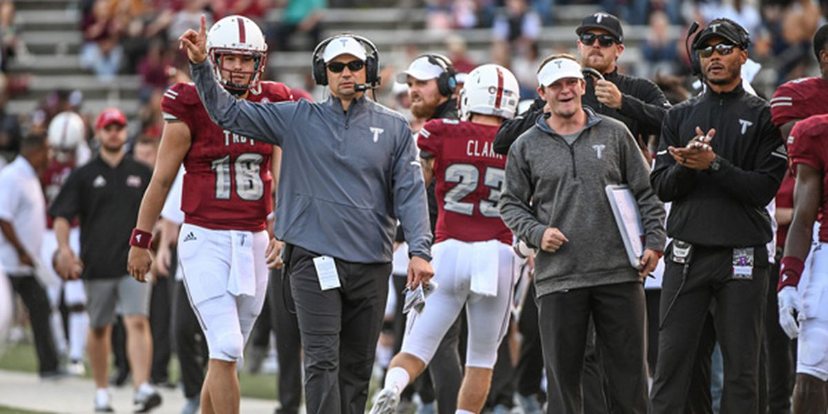 Neal Brown to leave Troy for West Virginia