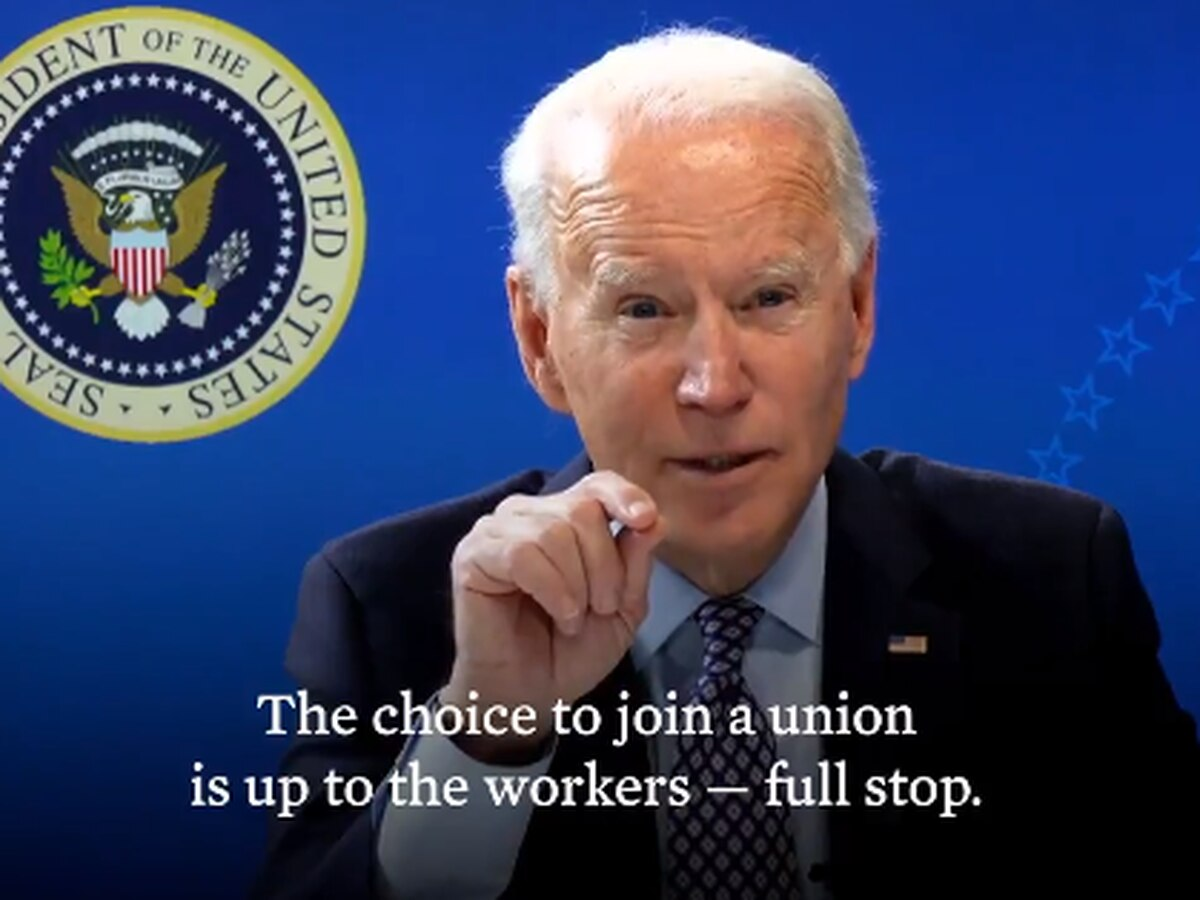 President Biden tweets support for Alabama Amazon unionization effort