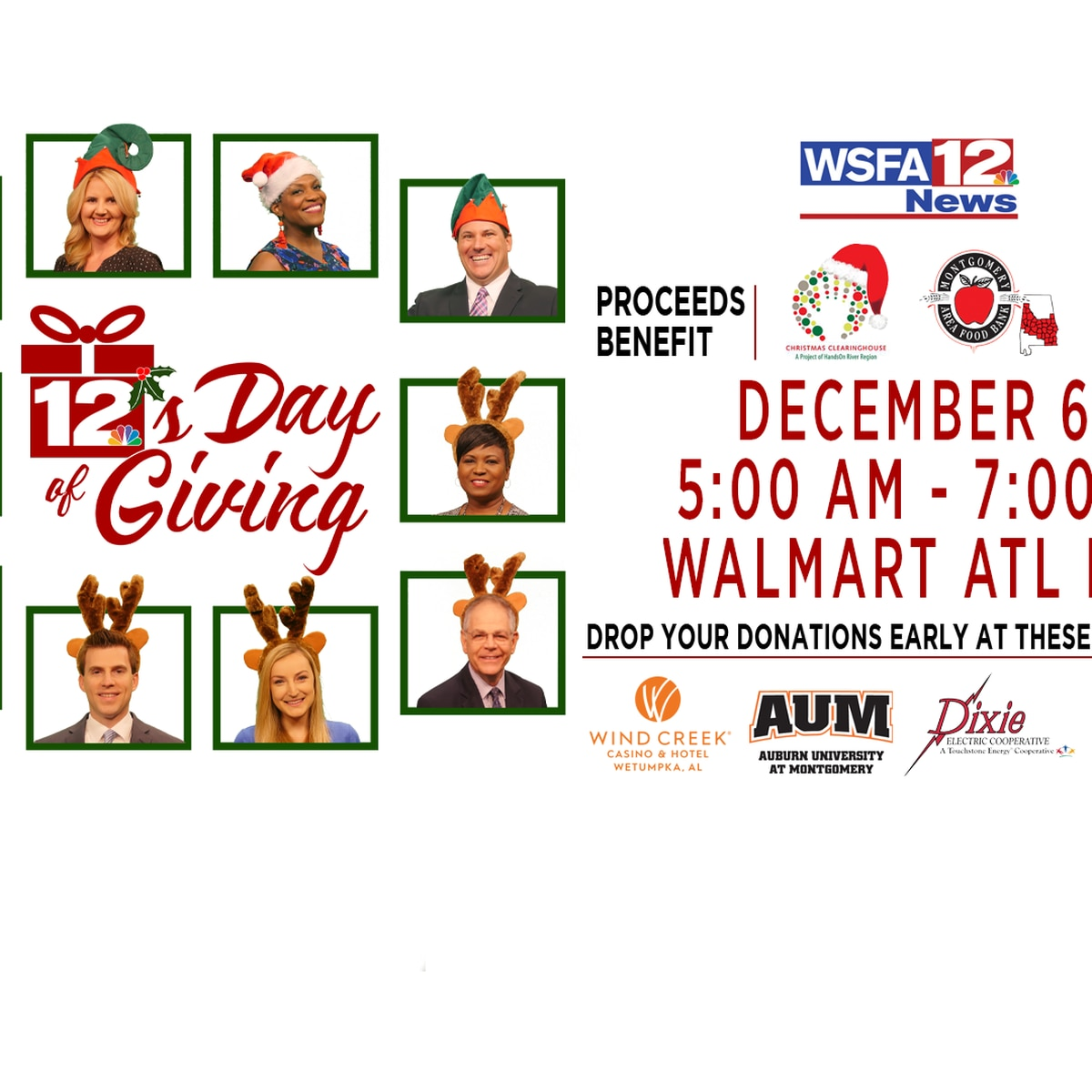 12's Day of Giving coming up Friday, Dec. 6