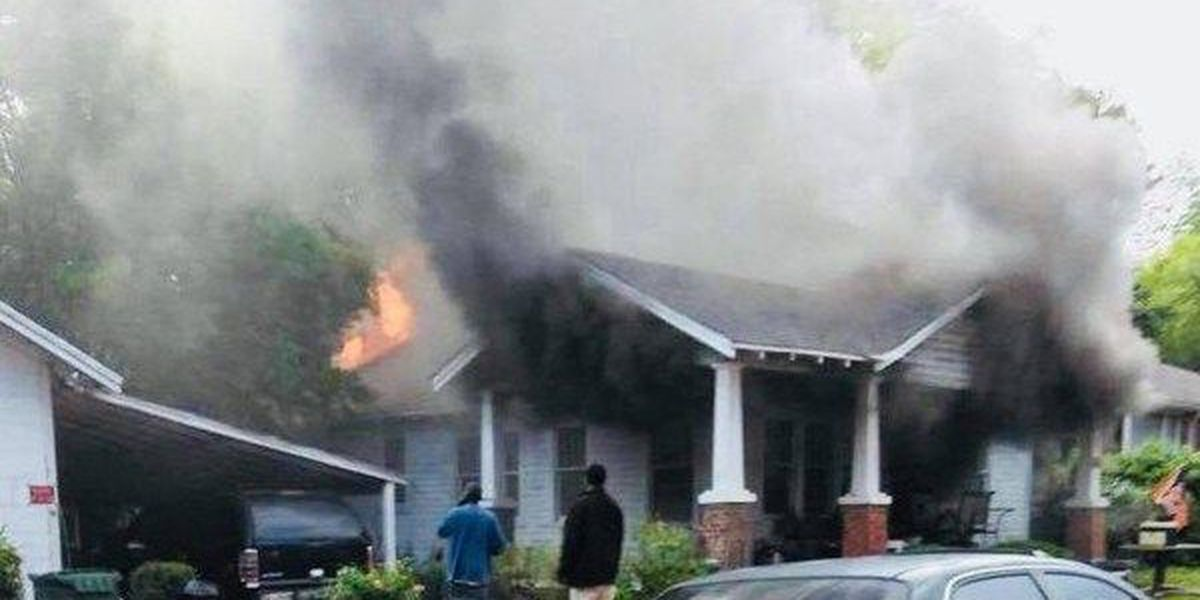 Smoke fumes from Tuesday house fire in Montgomery