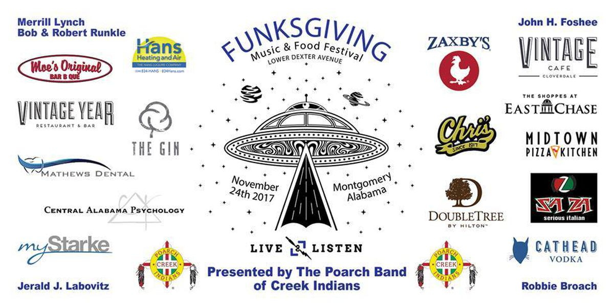 4th annual Funksgiving Music & Food Festival held in downtown Montgomery