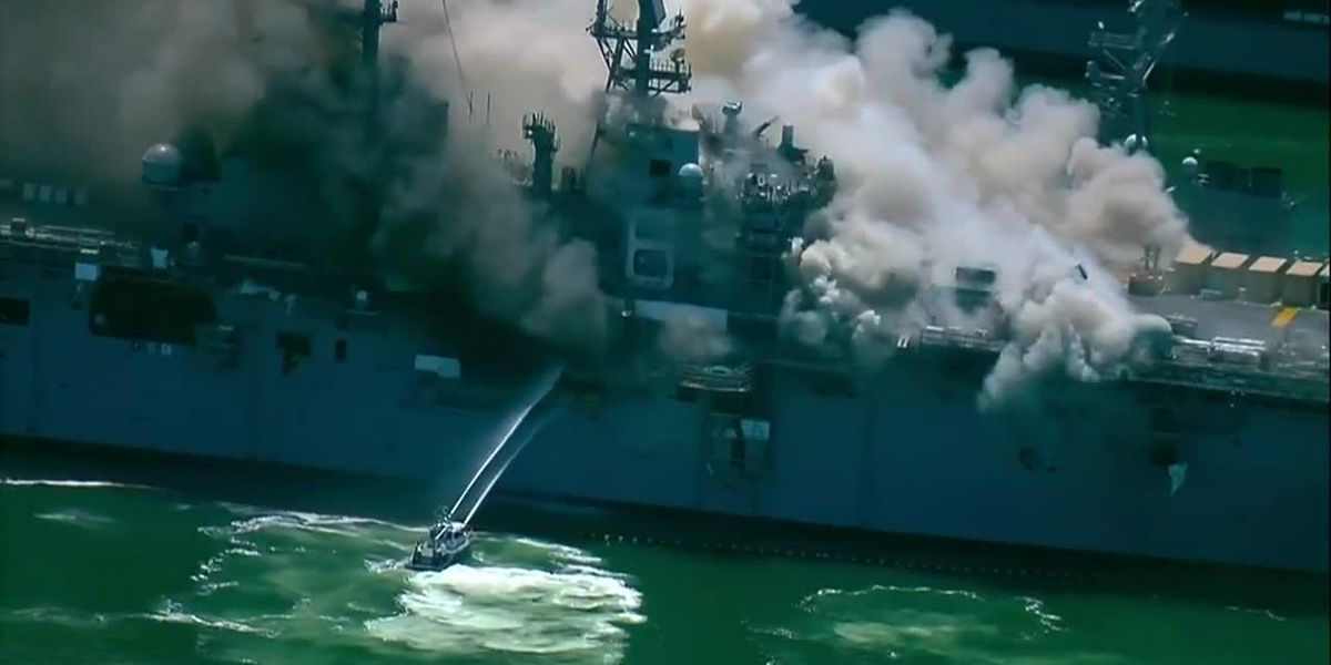 Explosion on naval ship in San Diego injures sailors, causes 3-alarm fire