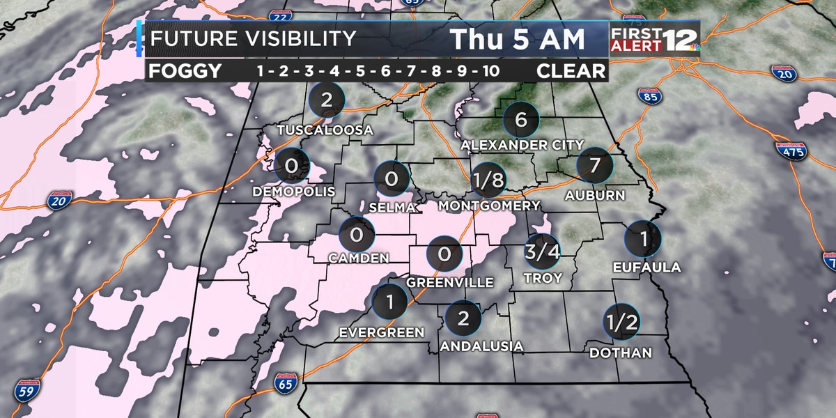 Dense fog likely tonight