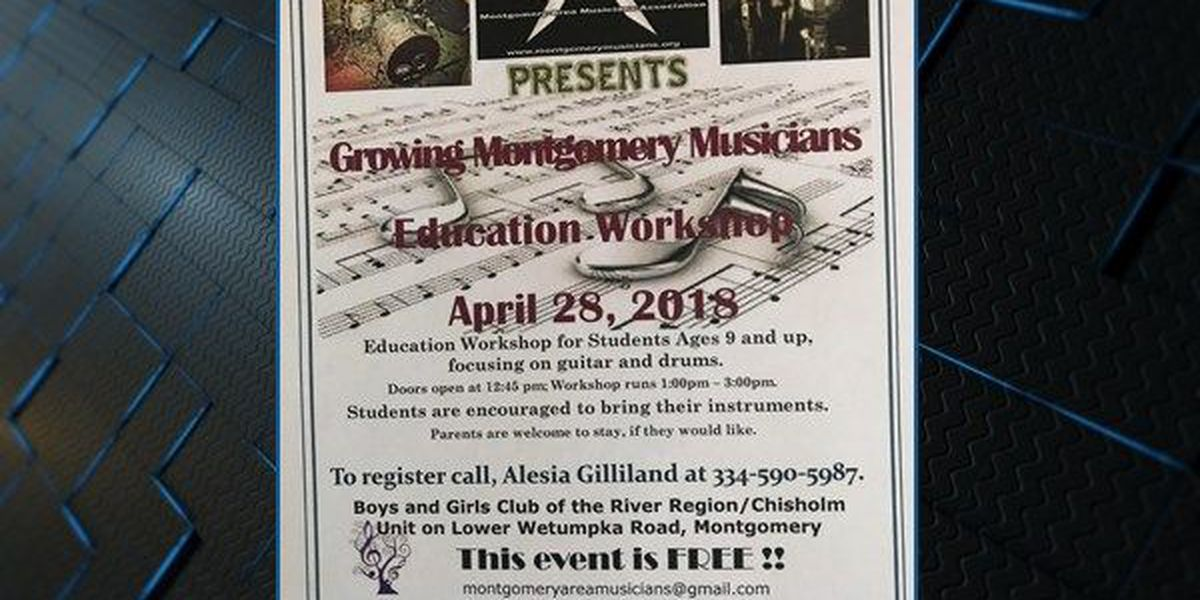 Montgomery Area Musicians Association to put on free workshop