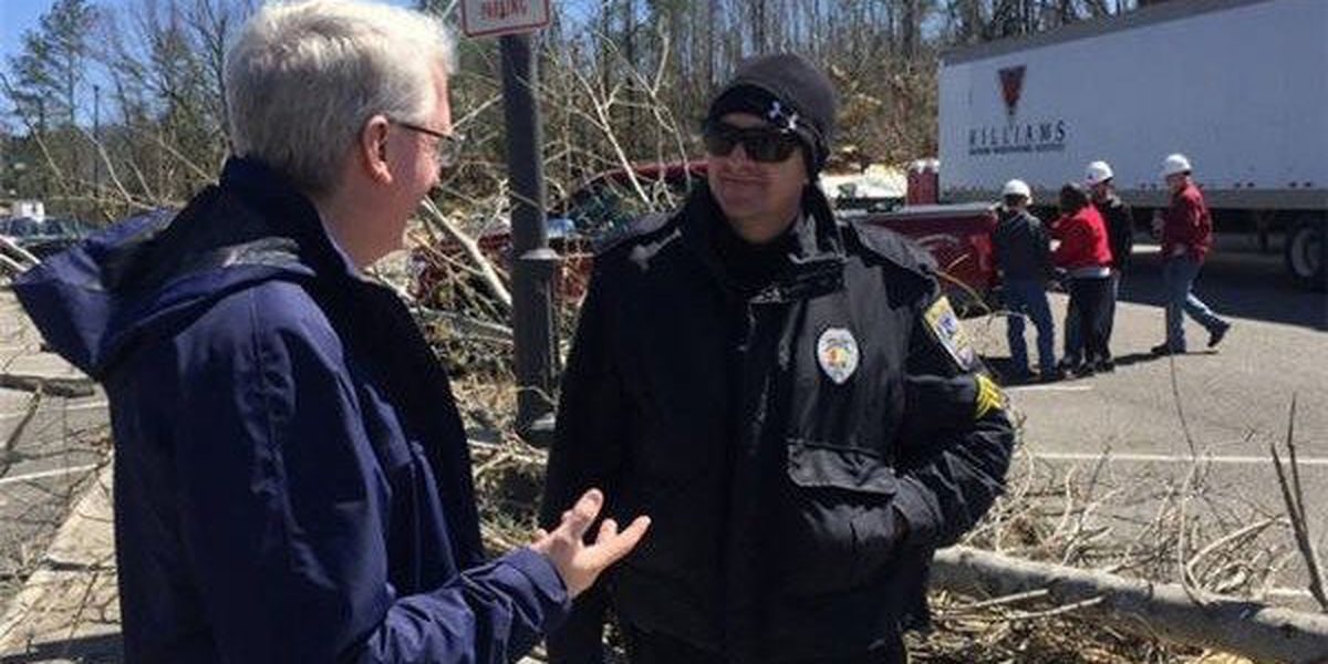 Auburn University assists in storm cleanup at Jacksonville State