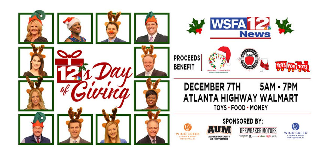 Mark your calendar for 12's Day of Giving on Dec. 7