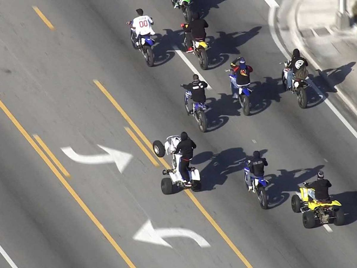 South Florida police arrest bikers and ATV riders protesting gun violence