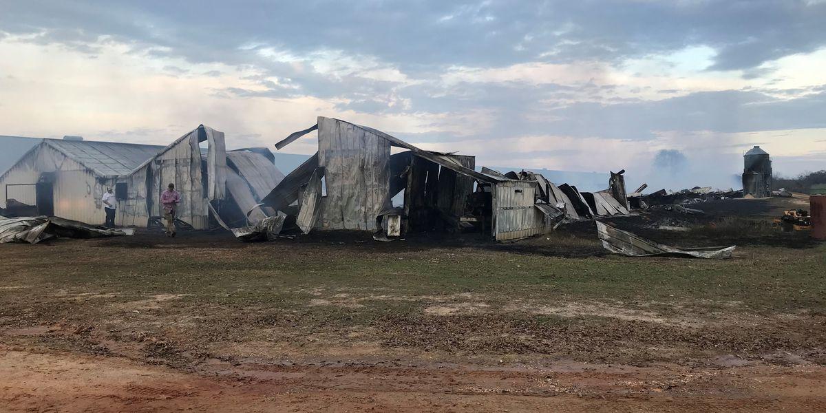 Blaze destroys chicken house in Pike County