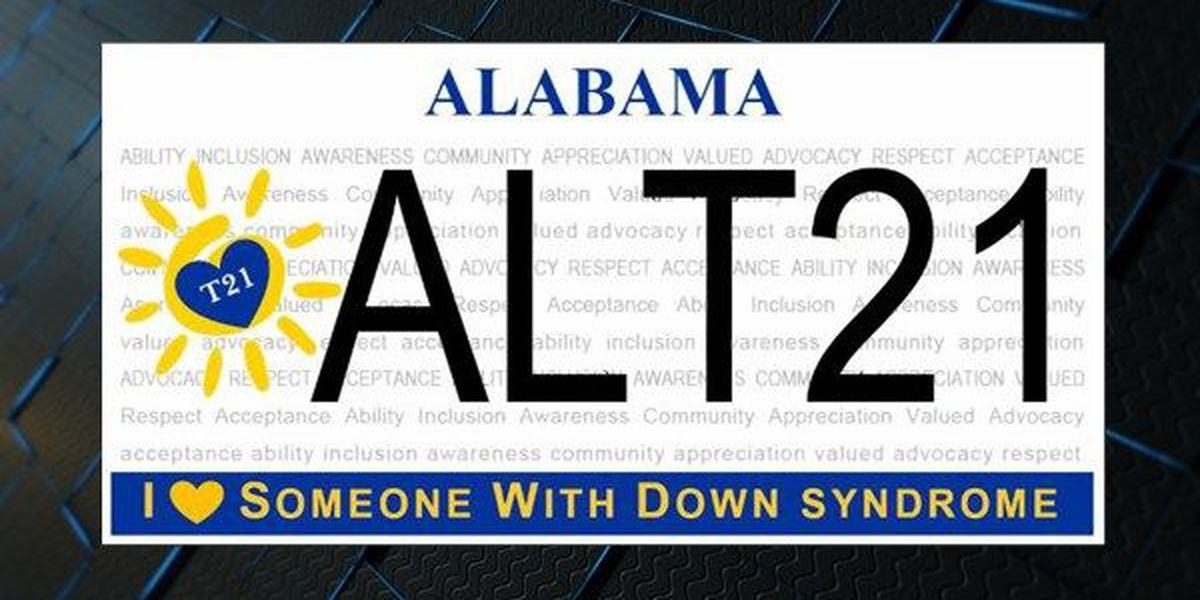 Sign up for Alabama Down Syndrome license plate