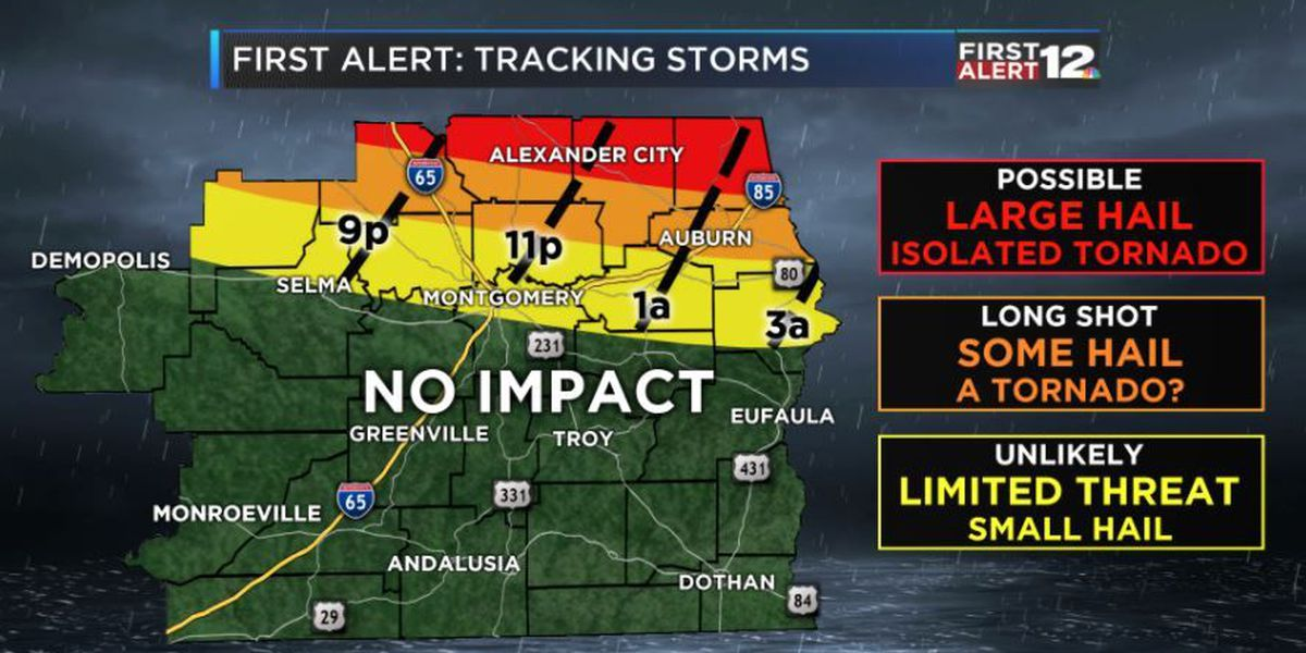 FIRST ALERT: Storms staying north