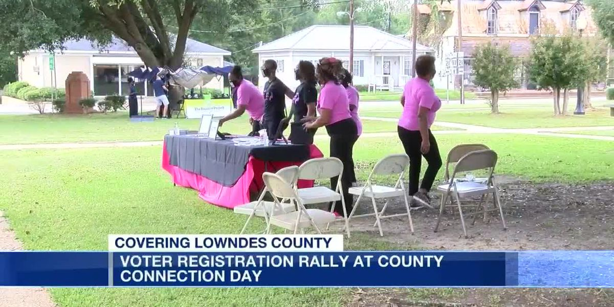 Voter registration rally at Lowndes County Connection Day
