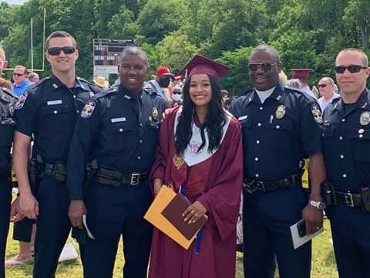 Louisville police attend graduation of fallen officer's daughter