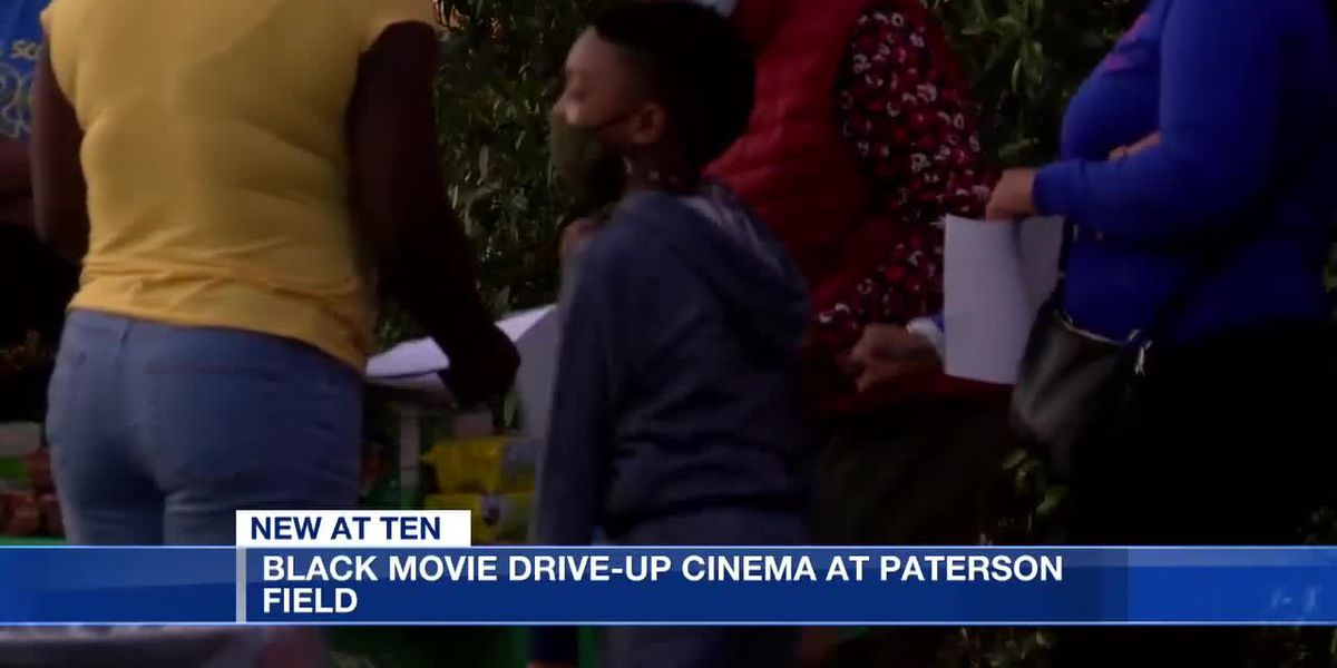 Black movie drive-up cinema at Paterson Field