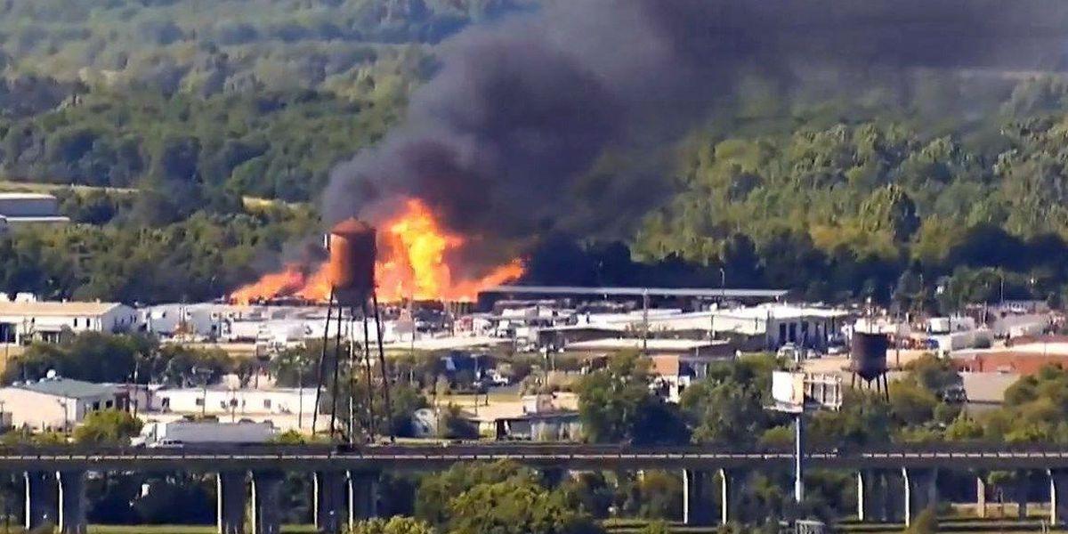 SLIDESHOW: Massive Montgomery pallet fire