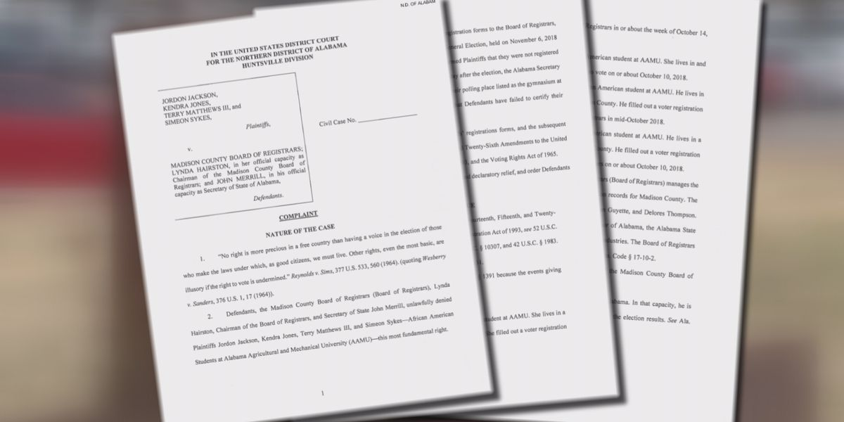 Federal judge denies motion in lawsuit involving ballots of Alabama A&M students