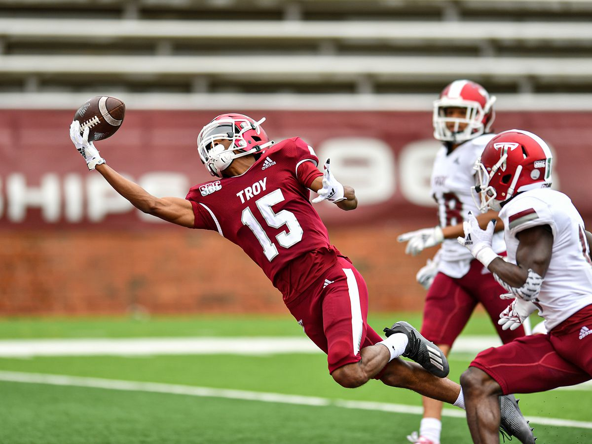 Offense shines in annual Troy T-Day