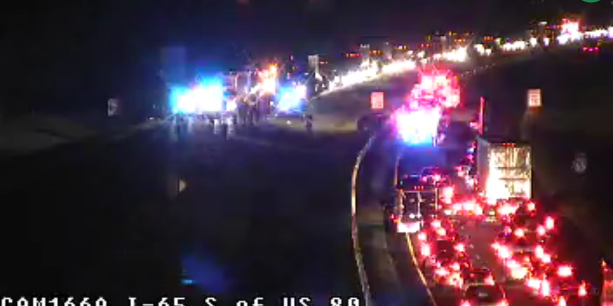 I-65 NB at Selma HWY blocked due to multi-vehicle crash