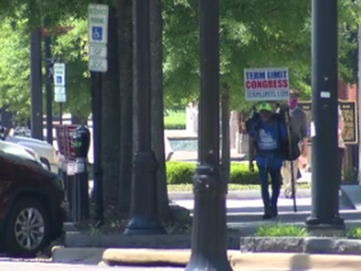 Man walking for Congressional term limits stops in Montgomery