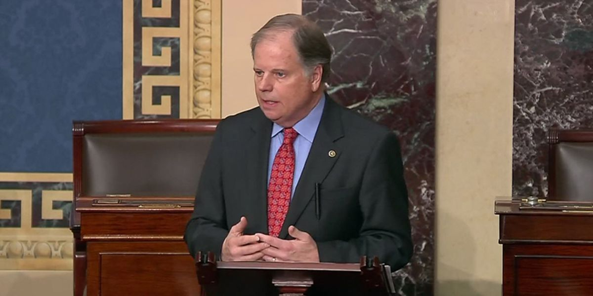 Senator Doug Jones responds to results of Alabama GOP primary runoff