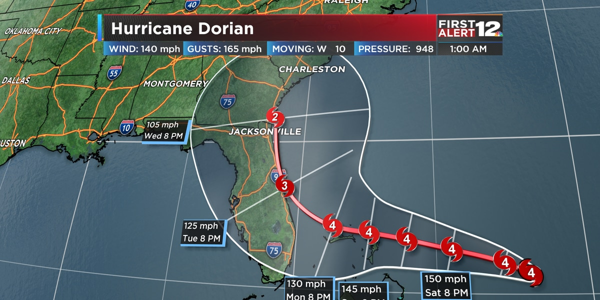 First Alert: Dorian a category 4 hurricane, forecast to still strengthen