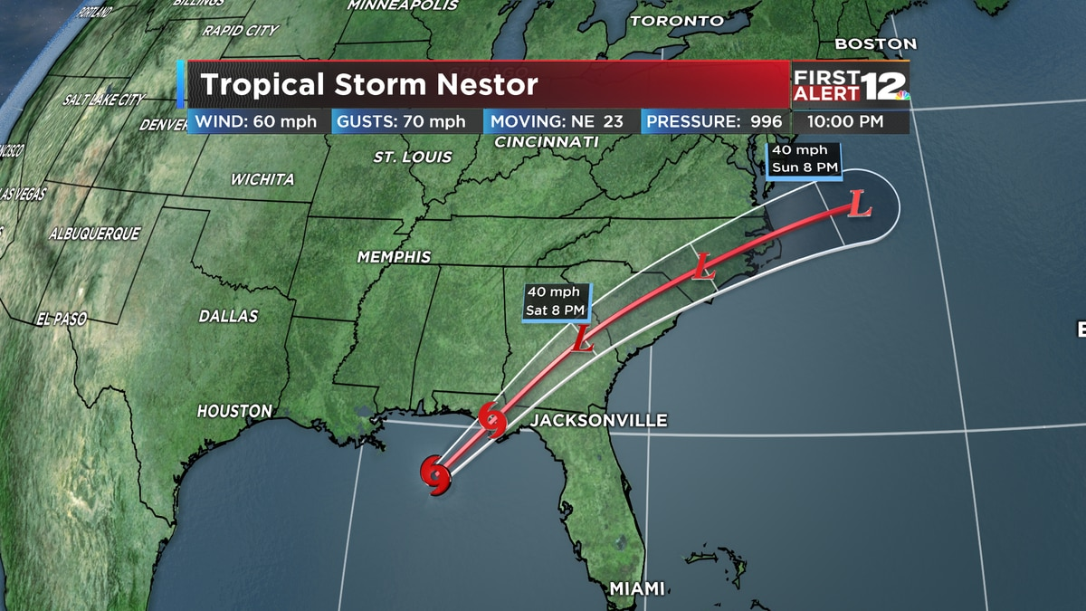 Tropical Storm Nestor latest