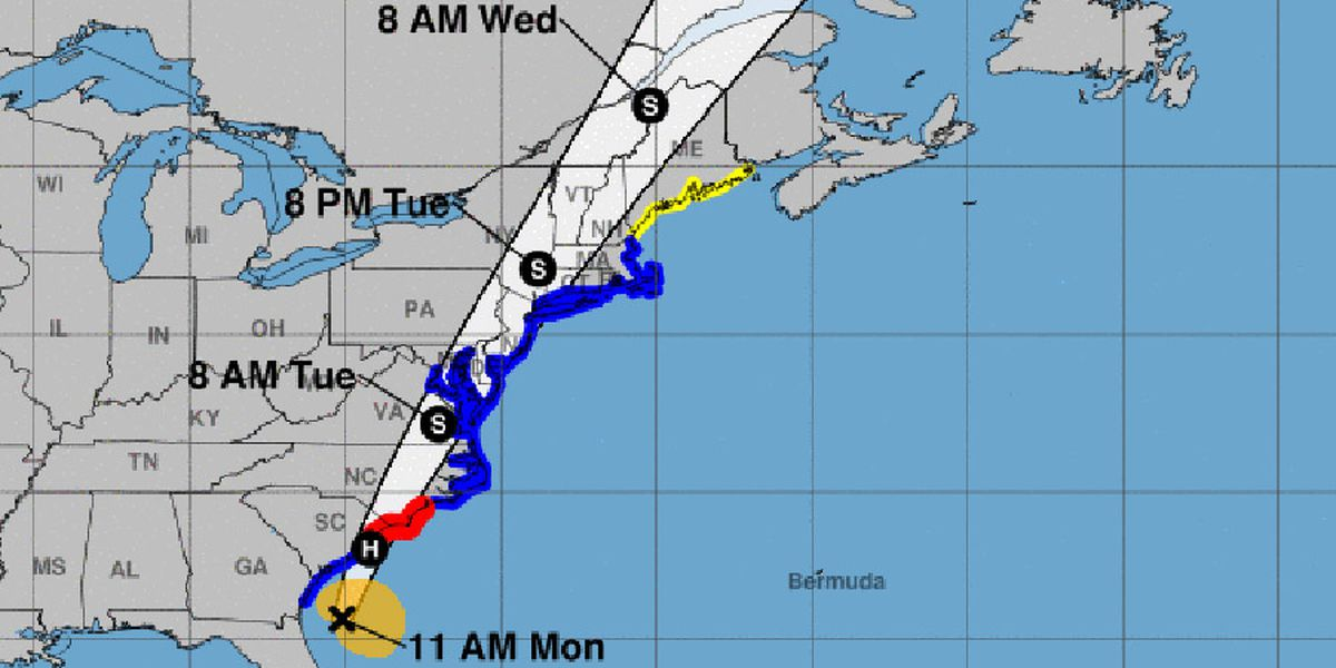 Hurricane Isaias makes landfall in North Carolina