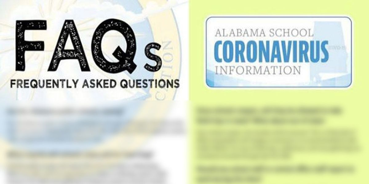 Frequently Asked Questions as Ala.'s schools close over COVID-19