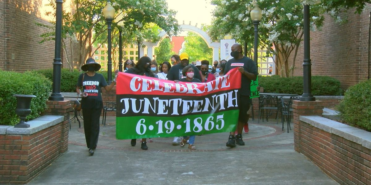 Hundreds gather for Juneteenth march in Opelika