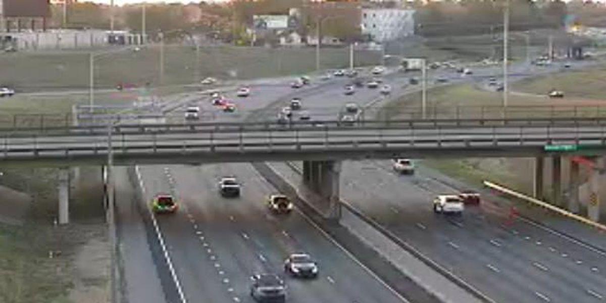 I-85 SB lanes near downtown clear following 4-vehicle crash