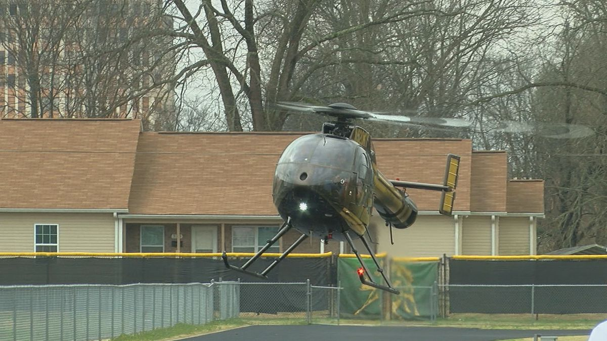WATCH: Nick Saban lands at Jackson-Olin High School in helicopter to recruit