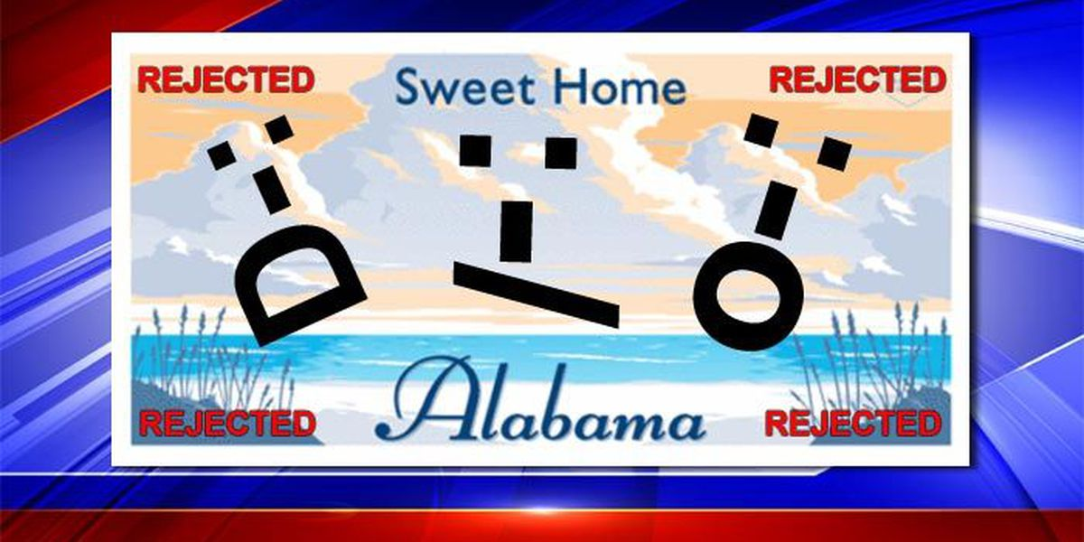 Tag, Not It: Alabama's rejected license plates