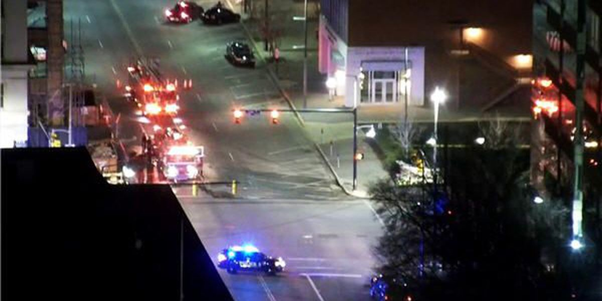 Crews work overnight fire at Montgomery's Bell Building