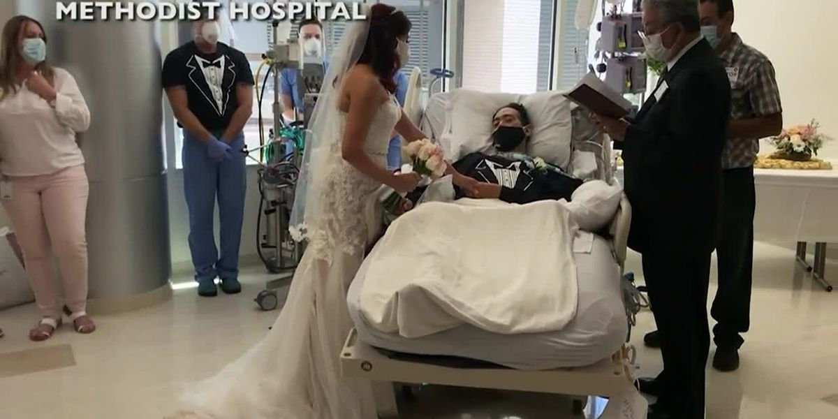 Hospital staff creates wedding ceremony for COVID-19 patient