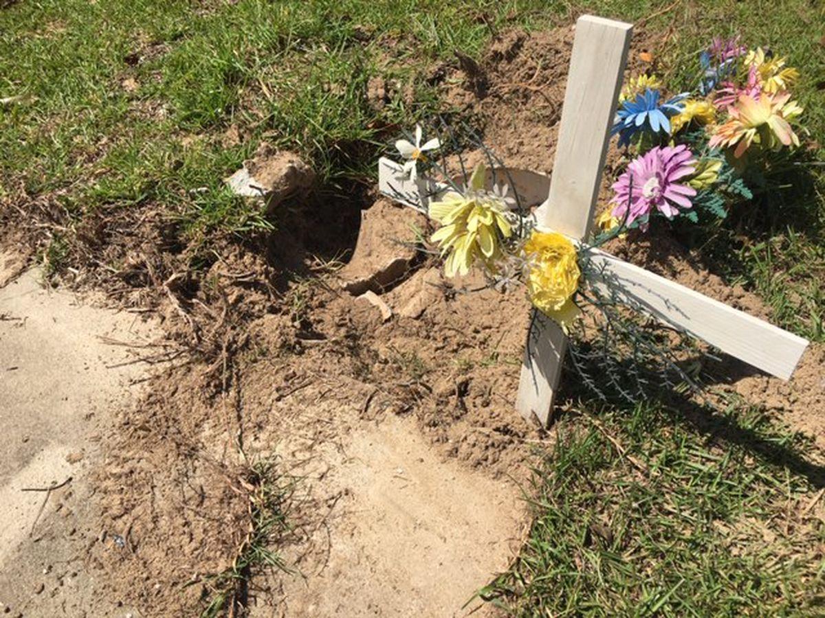 Vandals strike Crenshaw County church, cemetery